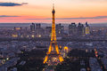 The Eiffel Tower At Night In Paris, France Stock Photos - 58259573