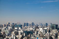 Top View Of Residential Buildings With Faraway Mt. Fuji On FEBRUARY 11, 2015 In Tokyo. Stock Photo - 58268180