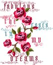 Fabulous The Roses In My Dreams Vector Stock Images - 58286304