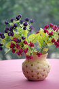 Pot Of Plastic Flowers Royalty Free Stock Image - 5836236
