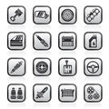 Detailed Car Parts Icons Stock Image - 58300751