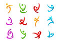 Fitness,logo,people,active,symbol,health,sport,wellness,yoga And Body Vector Icon Design Royalty Free Stock Images - 58319419