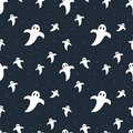 Halloween Cute Ghosts Seamless Pattern Royalty Free Stock Photography - 58328187