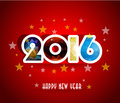 Happy New Year 2016 Greeting Card Stylized Triangle Polygonal Model Royalty Free Stock Image - 58332886