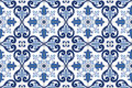 Traditional Ornate Portuguese Tiles Azulejos. Vector Illustration. Stock Photo - 58337170
