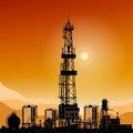Silhouette Drilling Rigs Royalty Free Stock Photos - 58342298