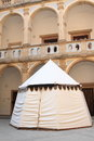 Tent On Courtyard Of Monastery In Jicin Royalty Free Stock Photography - 58343757