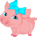 Cute Pig Cartoon Royalty Free Stock Images - 58348259