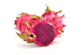 Dragon Fruit Isolated On White Background. (Pitaya Fruit) Royalty Free Stock Photography - 58361547