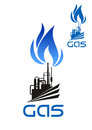 Natural Gas Industrial Processing Icon Royalty Free Stock Image - 58363946