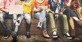 Teenagers Young Team Together Cheerful Concept Royalty Free Stock Images - 58366699