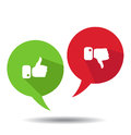Modern Thumbs Up And Thumbs Down Icons Royalty Free Stock Images - 58368169