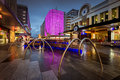 Adelaide City, Rundle Mall, Rundle Lantern Light Show Stock Image - 58383951
