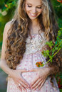 Beautiful Pregnant Woman In The Park Stock Images - 58388704