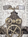 Detail Of An Ancient Church Clock Royalty Free Stock Photo - 58389005
