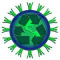 Recycle A Green World Stock Images - 5846414