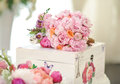 Wedding Decoration On Table. Floral Arrangements And Decoration. Arrangement Of Pink And White Flowers In Restaurant For Event Stock Images - 58401574