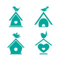 Vector Group Of Bird Houses Stock Images - 58406734
