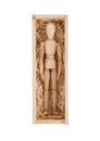 Wood Figure Mannequin In A Wooden Box Stock Photos - 58411273