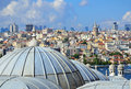 Mosque Domes And Galata Tower Stock Photography - 58412402