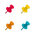 Set Of Colorful Office Push Pins Royalty Free Stock Image - 58415516
