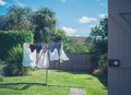 Laundry Drying In Garden Royalty Free Stock Photos - 58417788