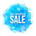 Big Winter Sale Sign On Blue Ice And Snowflakes Royalty Free Stock Photos - 58421448