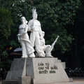 Statue Depicting Peace On The Banks Of Hoan Kiem Lake Stock Photography - 58427512