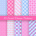 Sweet Dream Seamless Patterns. Vector Illustration Stock Images - 58430764