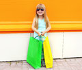 Portrait Of Beautiful Smiling Little Girl Child In Sunglasses Royalty Free Stock Images - 58433569
