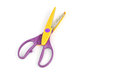 Used Serrated Color Scissors Isolated On White Background Royalty Free Stock Photos - 58438148