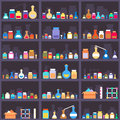 Alchemical Elixirs Or Chemicals And Medications On Stock Images - 58460694