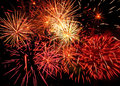 Fireworks Light Up The Sky With Dazzling Display Royalty Free Stock Photography - 58461597
