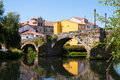 Cabe River And Old  Bridge At Monforte De Lemos Royalty Free Stock Photo - 58465565