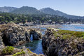 Point Lobos State Natural Reserve, With Rock, Water Caves Royalty Free Stock Images - 58470289