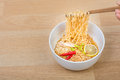 Hot And Spicy Lap Instant Noodle Royalty Free Stock Image - 58471266
