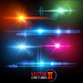 Vector Lens Flare Effects Stock Image - 58484611