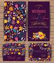Floral Vector Card Templates Royalty Free Stock Photography - 58492327