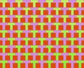 Pop Art Rows Of Ts Pattern Green Violet Red Stock Photos - 5851363