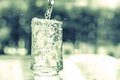 Vintage And Retro Color Tone Of The Glass Of Cool Water With Som Stock Images - 58503224