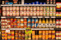 Selection Canned Foods In A Supermarket Siam Paragon In Bangkok, Thailand Royalty Free Stock Images - 58514889