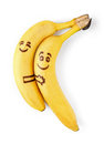 Bananas With Smiley Faces, Couple In Love Concept Stock Photos - 58516133