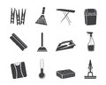 Silhouette Home Objects And Tools Icons Royalty Free Stock Image - 58520616