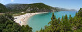 Cala Luna Bay Panorama Royalty Free Stock Photo - 58520795