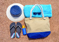 All You Need For A Summer Vacation At The Beach Stock Images - 58540424