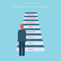 Business Man Stepping Up A Staircase To Success, Business Concep Royalty Free Stock Photography - 58558527
