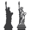 New York Statue Of Liberty Vector Silhouette Royalty Free Stock Photo - 58559155