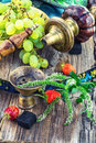 Hookah With Fruit Flavour Royalty Free Stock Photos - 58568688