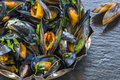 Cooked Mussels Royalty Free Stock Images - 58574629
