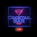 Neon Sign Cocktail Bar Stock Photo - 58577210
